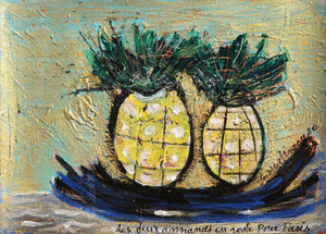 x Les Deux Ananas en Route pour Paris (The Two Pineapples on their Way to Paris)
