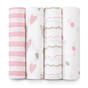 Classic Swaddles by Aden + Anais | Heart Breaker 4 Pack