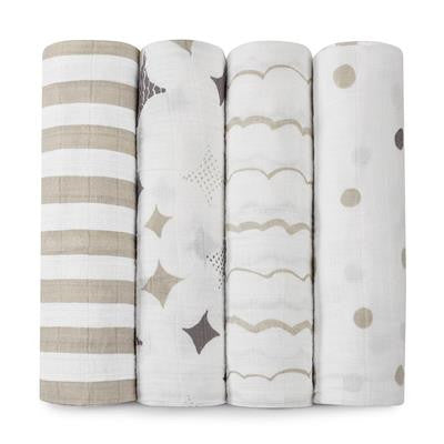 Classic Swaddles by Aden + Anais | Shine On 4 Pack