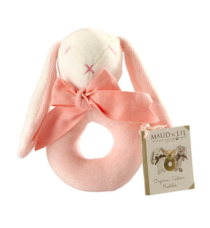 Pink Donut Rattle by Maud n Lil