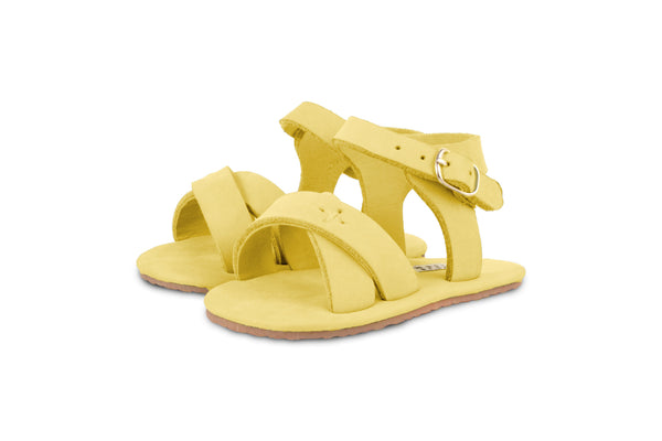 Giggles - Nubuck Yellow Leather by Donsje