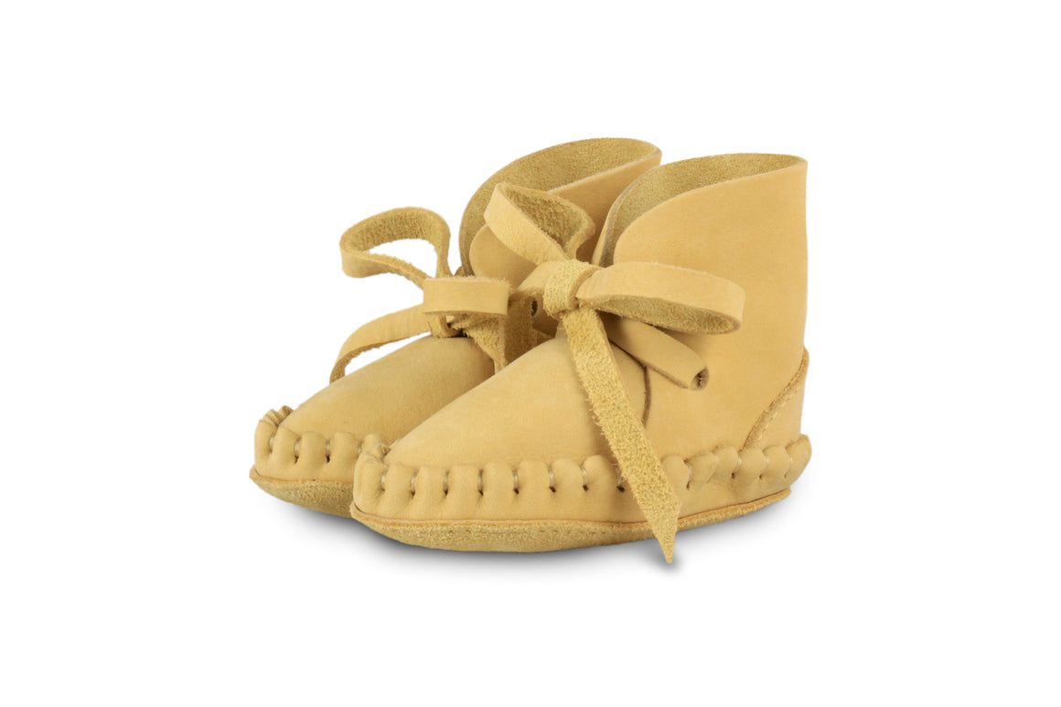 Pina - Nubuck Yellow Leather by Donsje