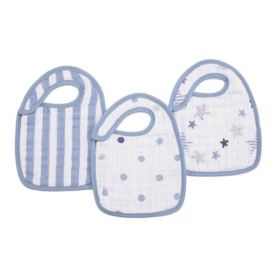 Classic Snap Bibs by Aden + Anais | Rock Star 3 Pack