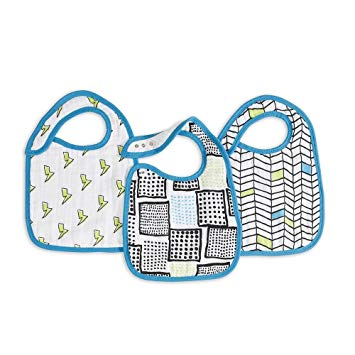 Classic Snap Bibs by Aden + Anais | Whiz Kid 3 Pack