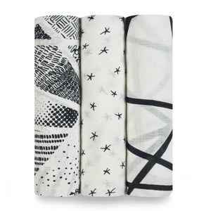 Midnight Bamboo Swaddle 3 Pack by Aden + Anais