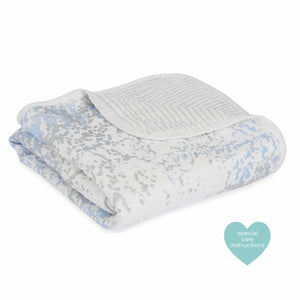 Stroller Blanket by Aden + Anais | Metallic Blue Moon Birch