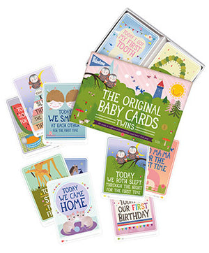 The Original TWIN Baby Cards by Milestone World