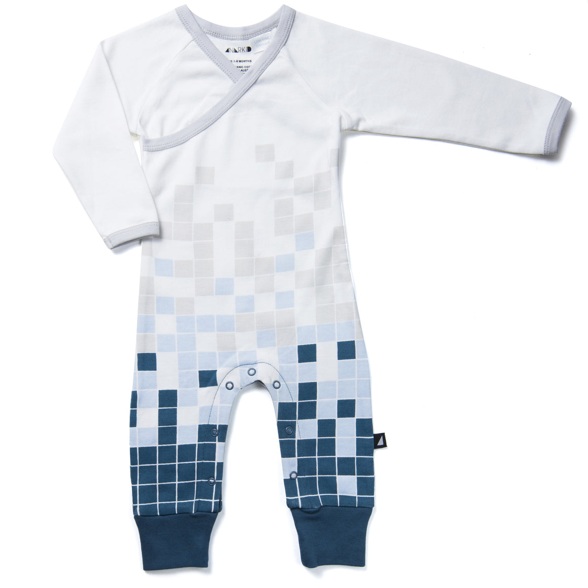 Block Crossover Long Sleeve Bodysuit Blue by Anarkid