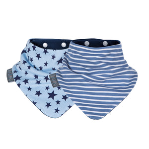 Neckerbib - Blue Stars & Stripes Dribble Bib by Cheeky Chompers