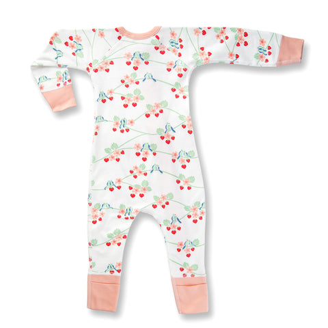 BLUEBIRDS ZIP ROMPER BY SAPLING CHILD