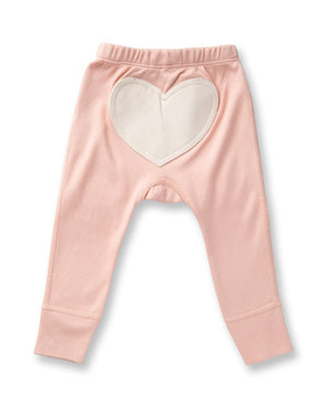 Heart Pants by Sapling Child - Peach Melba