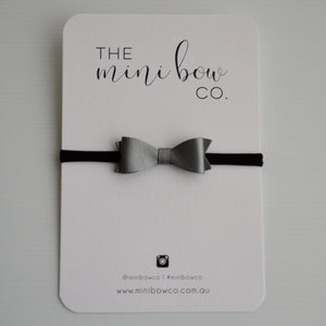 Mini Bow - Pearl Grey