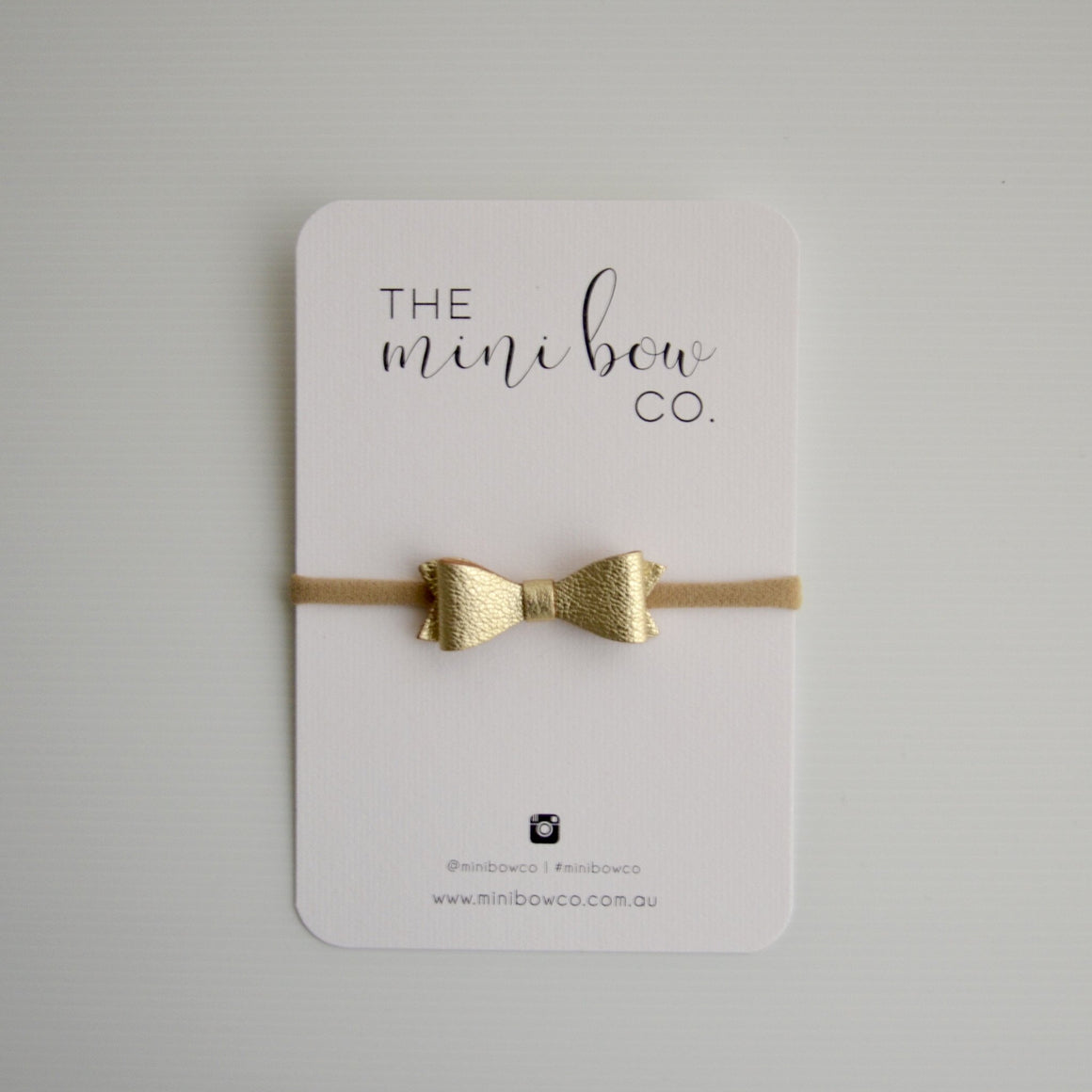 Mini Bow - Metallic Gold