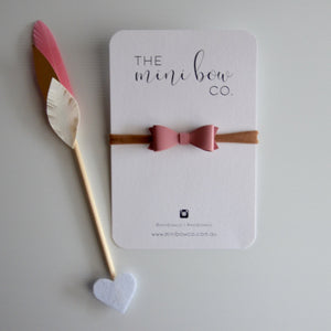 Mini Bow - Dusty Pink