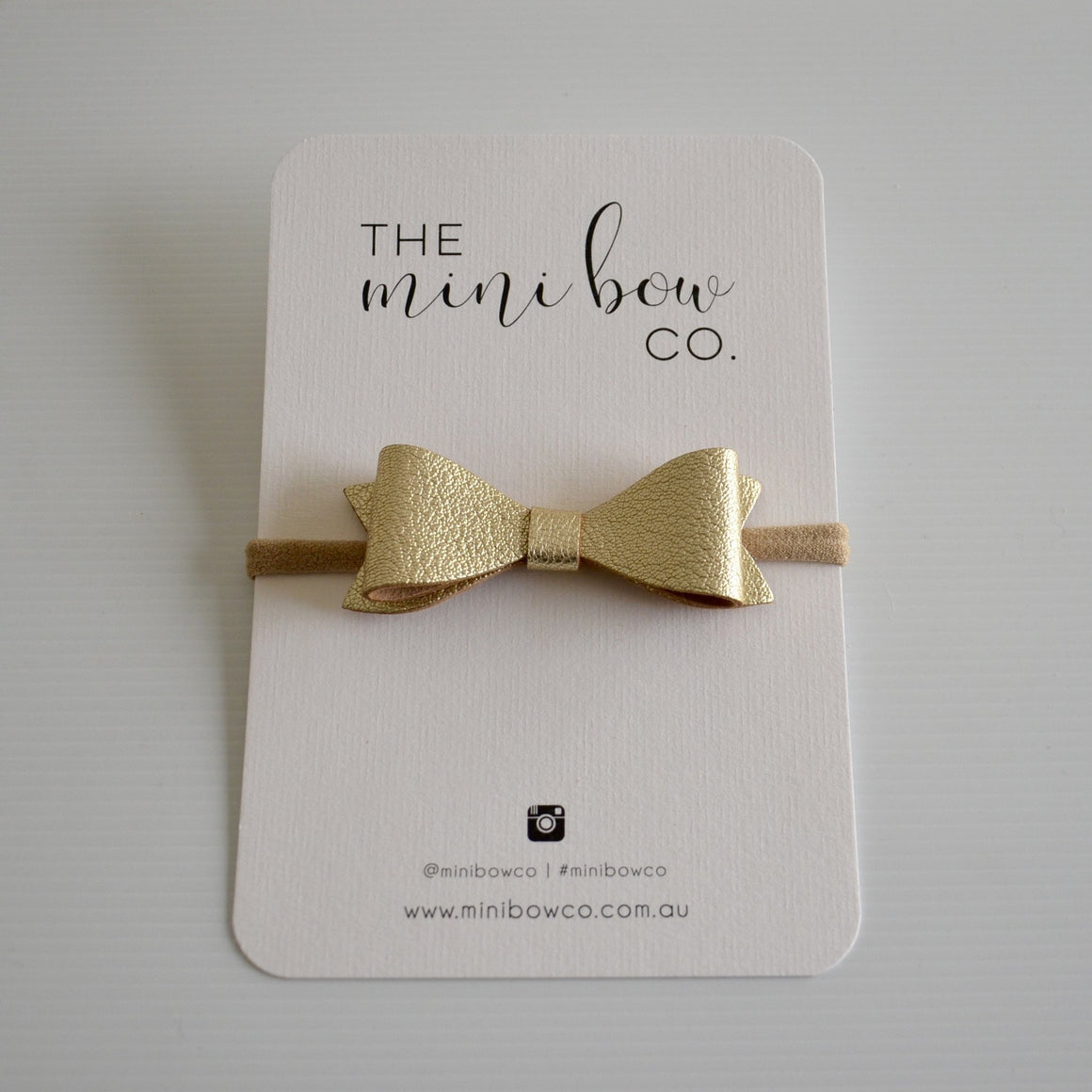 Classic Bow - Metallic Gold