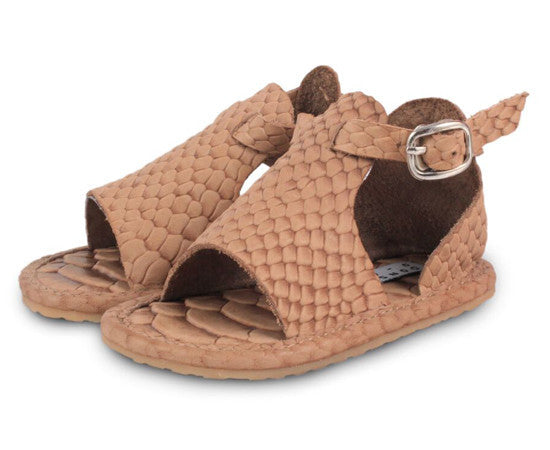 Lilo Exclusive Sandal - Leather Pythan Kaki