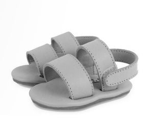 Sari Sandal - Leather Light Grey