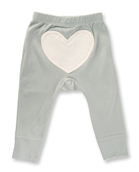 Heart Pants by Sapling Child - Dove Grey