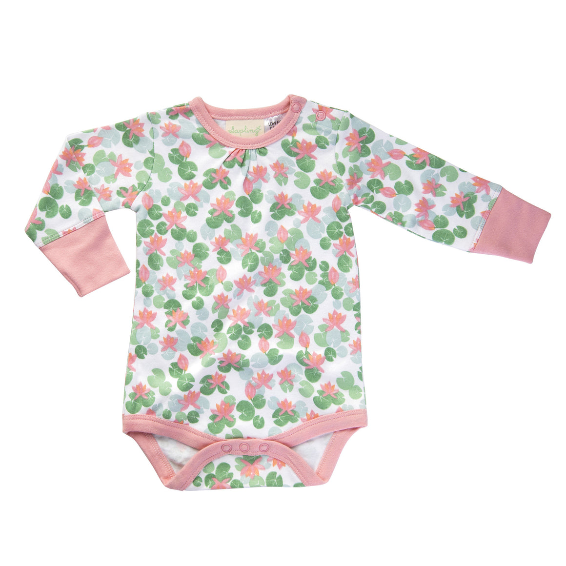 Floating Lotus Long Sleeve Bodysuit by Jaime King for Sapling
