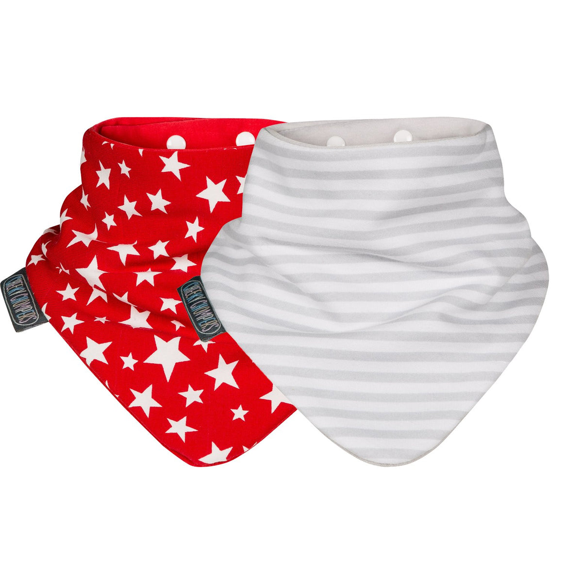 Neckerbib - Red Stars & Stripes Cheeky Chompers