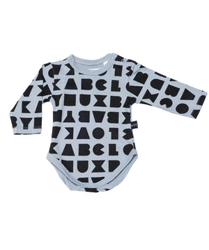 Block Long Sleeve Onesie by Huxbaby
