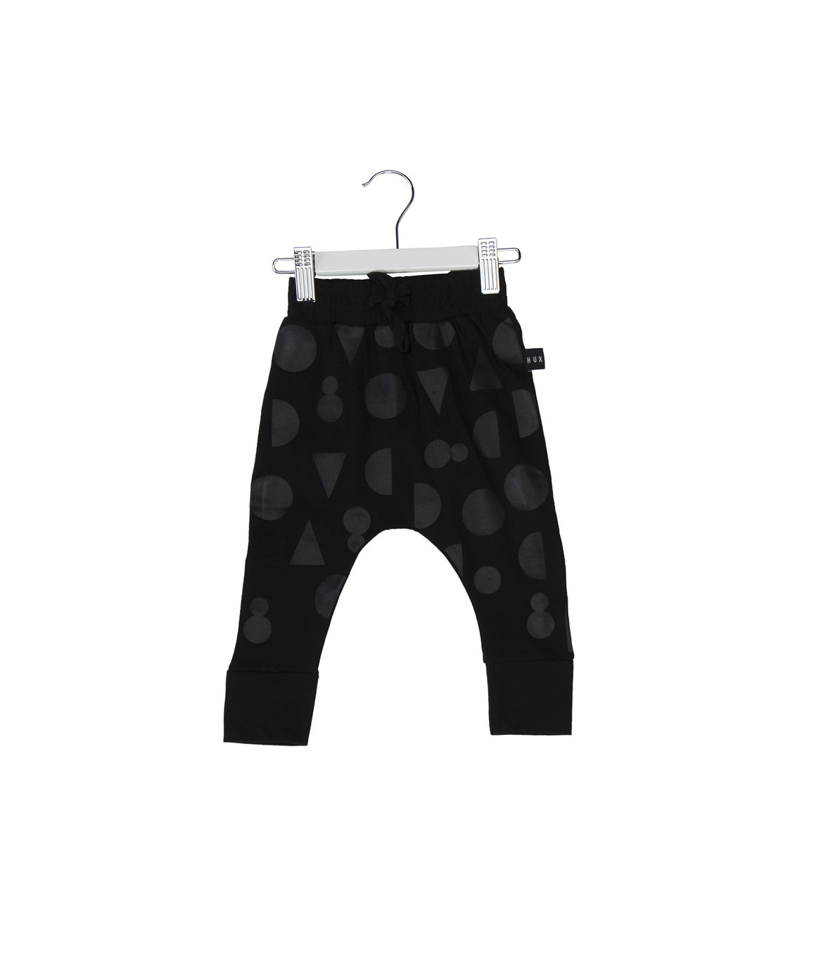 Shapes Black on Black Drop Crotch Pants by Huxbaby