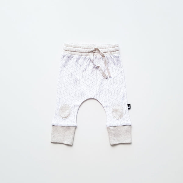 White Hexagon Patch Pant by Anarkid