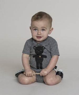 Heart Bear Onesie by Huxbaby