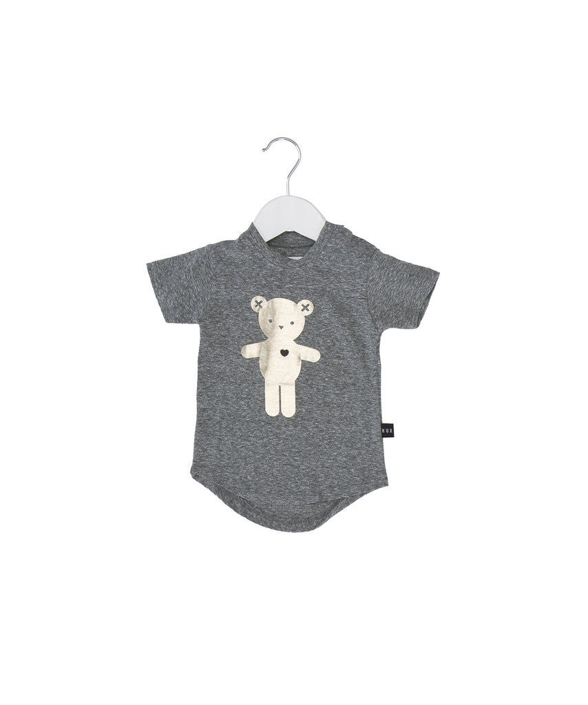 Heart Bear Drop Tee by Huxbaby