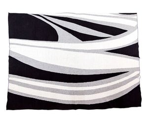 Charcoal Multi Spliced blanket - Jujo Baby (Cot size)