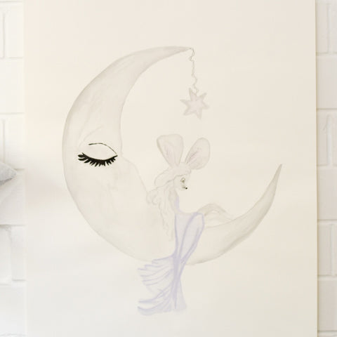 Little Silver Moon by Little Rae Prints