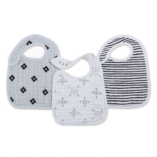 Classic Snap Bibs by Aden + Anais | Lovestruck 3 Pack