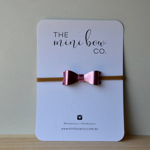 Mini Bow - Metallic Pink