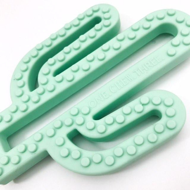 CACTUS POP SILICONE TEETHER by ONE.CHEW.THREE