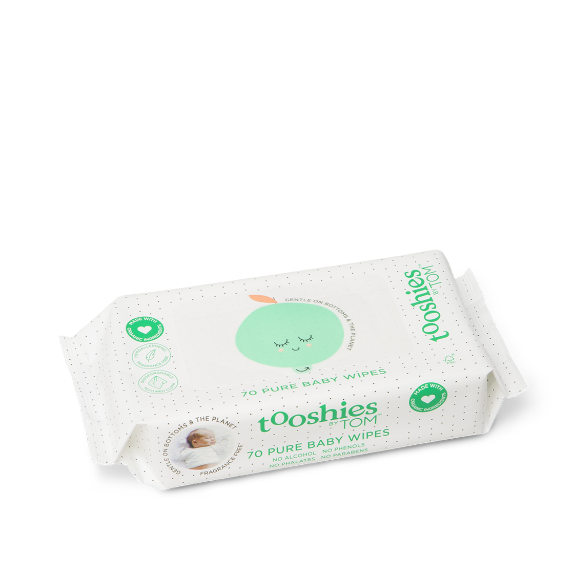 Eco Wipes – Pure Baby Wipes. 70pcs by Tooshies by TOM