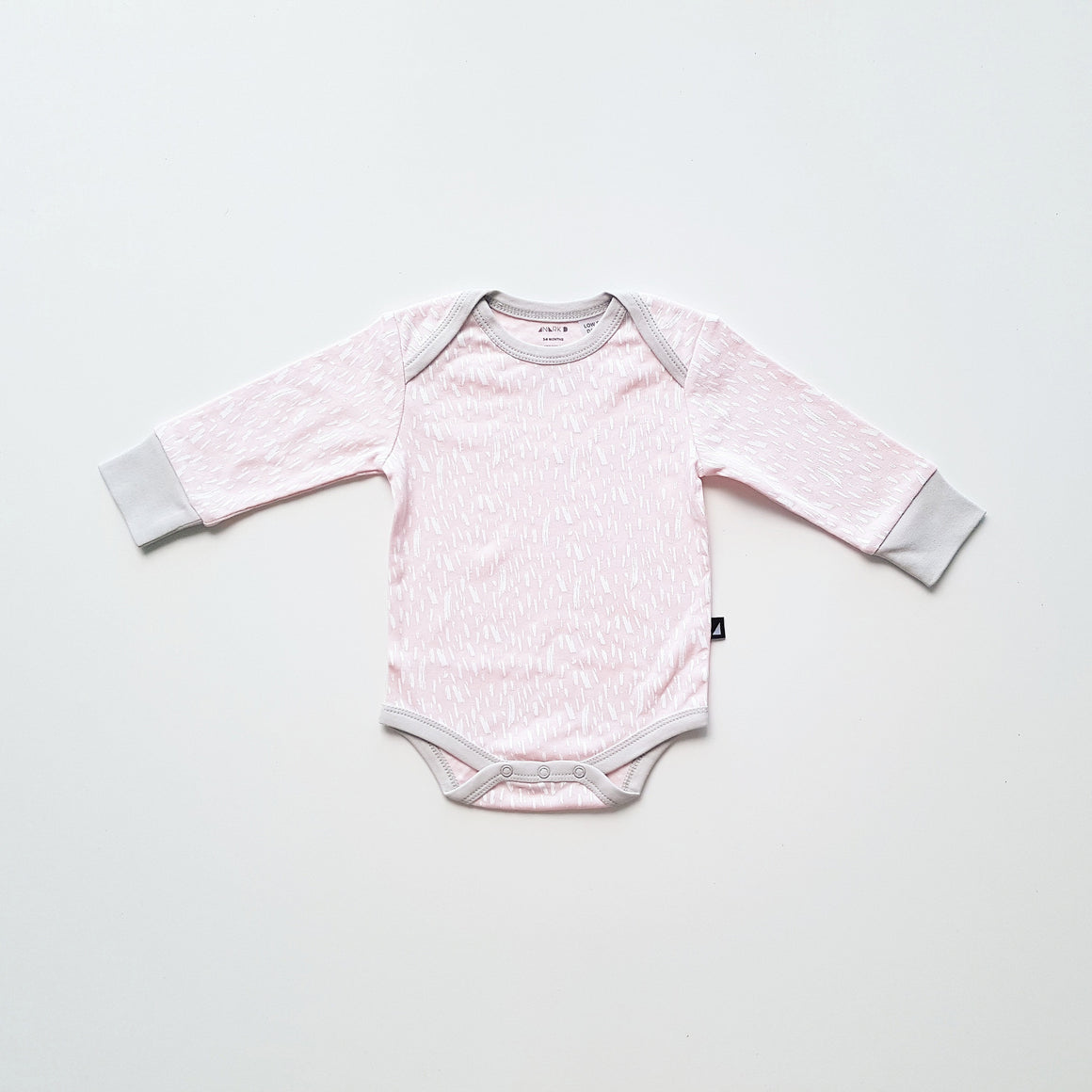 Ice Pink Paint Long Sleeve Bodysuit by Anarkid