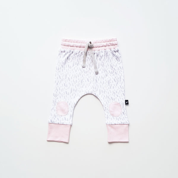 Ice Pink & White Paint Patch Pant by Anarkid