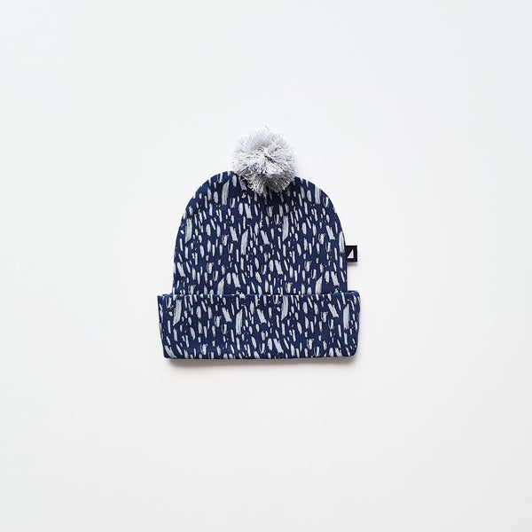 Ink Navy Paint Pom Pom Beanie by Anarkid