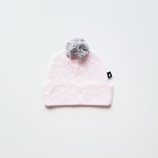 Ice Pink Paint Pom Pom Beanie by Anarkid