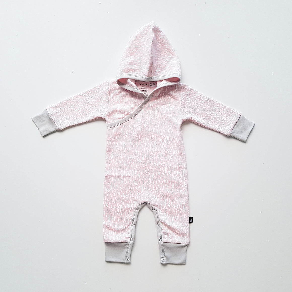 Ice Pink Paint Fleece Hooded Romper by Anarkid