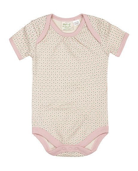 Short Sleeve Bodysuit by Sapling Child - Dusty Pink