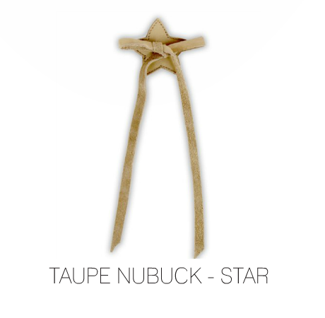 Star Laces - Taupe Nubuck by Donsje