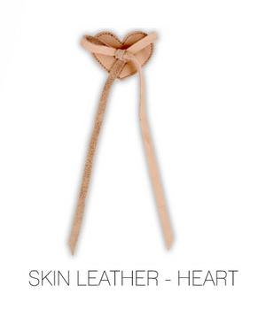 Heart Laces - Skin Leather by Donsje