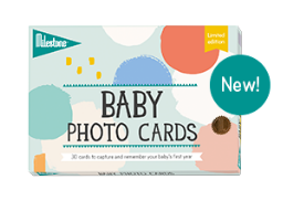 Baby Photo Cards Cotton Candy by Milestone World