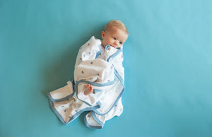 Paper Planes Snuggle Wrap by Sapling Child