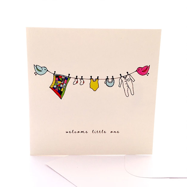 Welcome Little One Gift Card by Sketchy