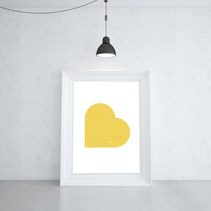 Yellow Love Print by Anarkid (Display Stock)