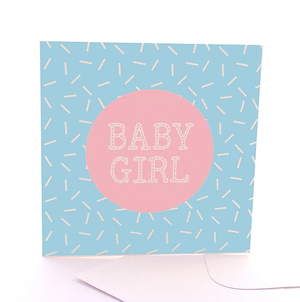 Baby Girl Gift Card by Sketchy