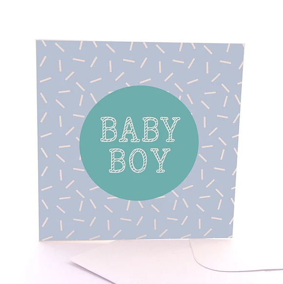 Baby Boy Gift Card by Sketchy