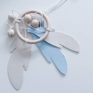 Dream Catcher - Baby Blue & White by Bisou de Lou